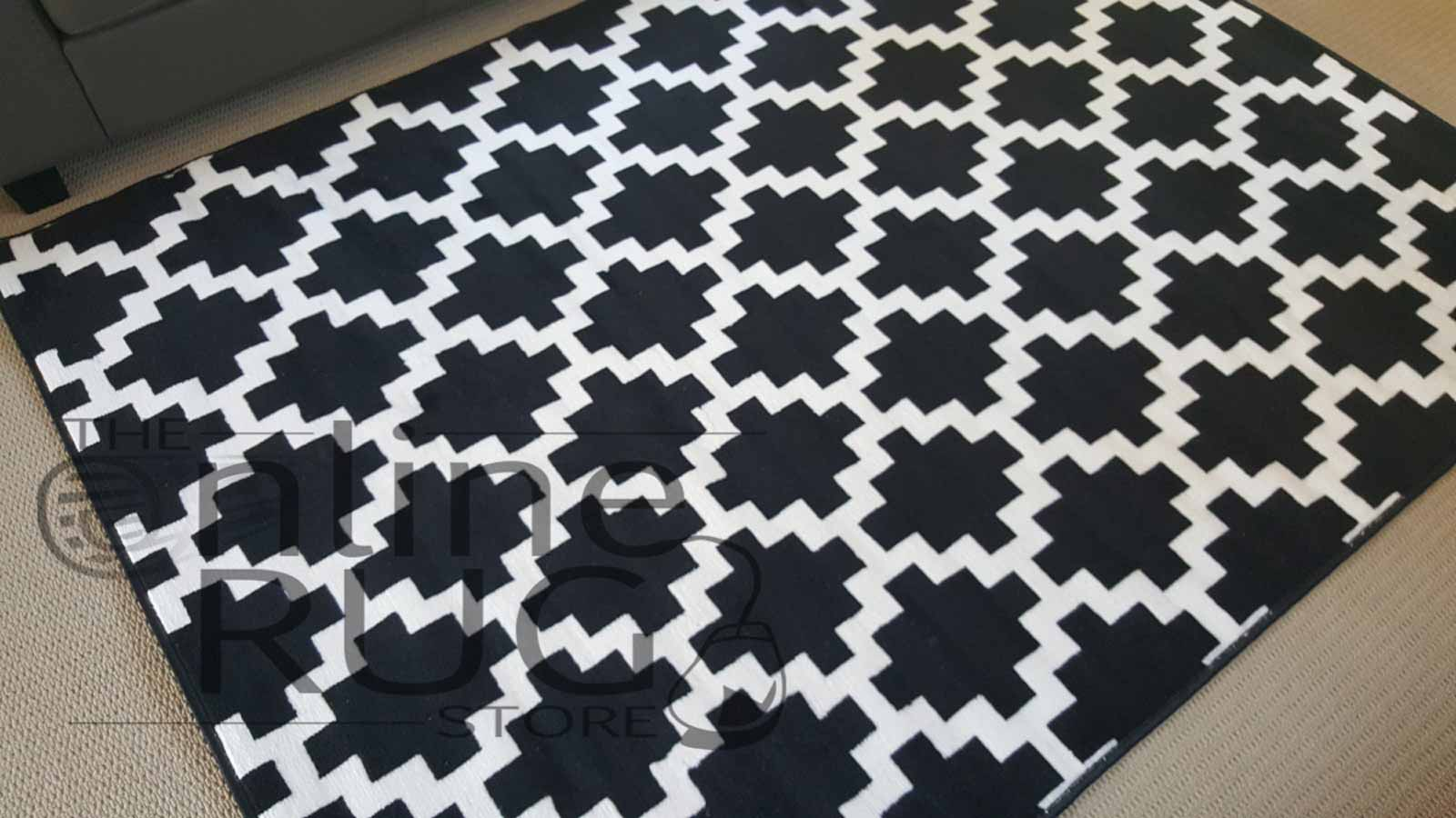 Industry Black White Geometric Diamond