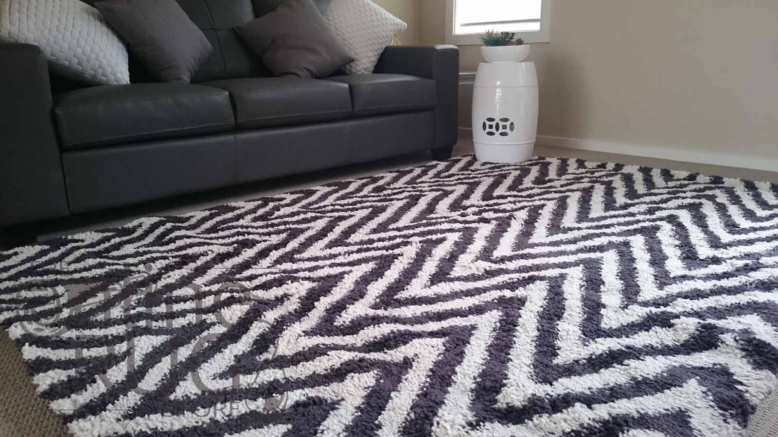 Brown Beige Chevron Zig Zag Shaggy The Online Rug Store