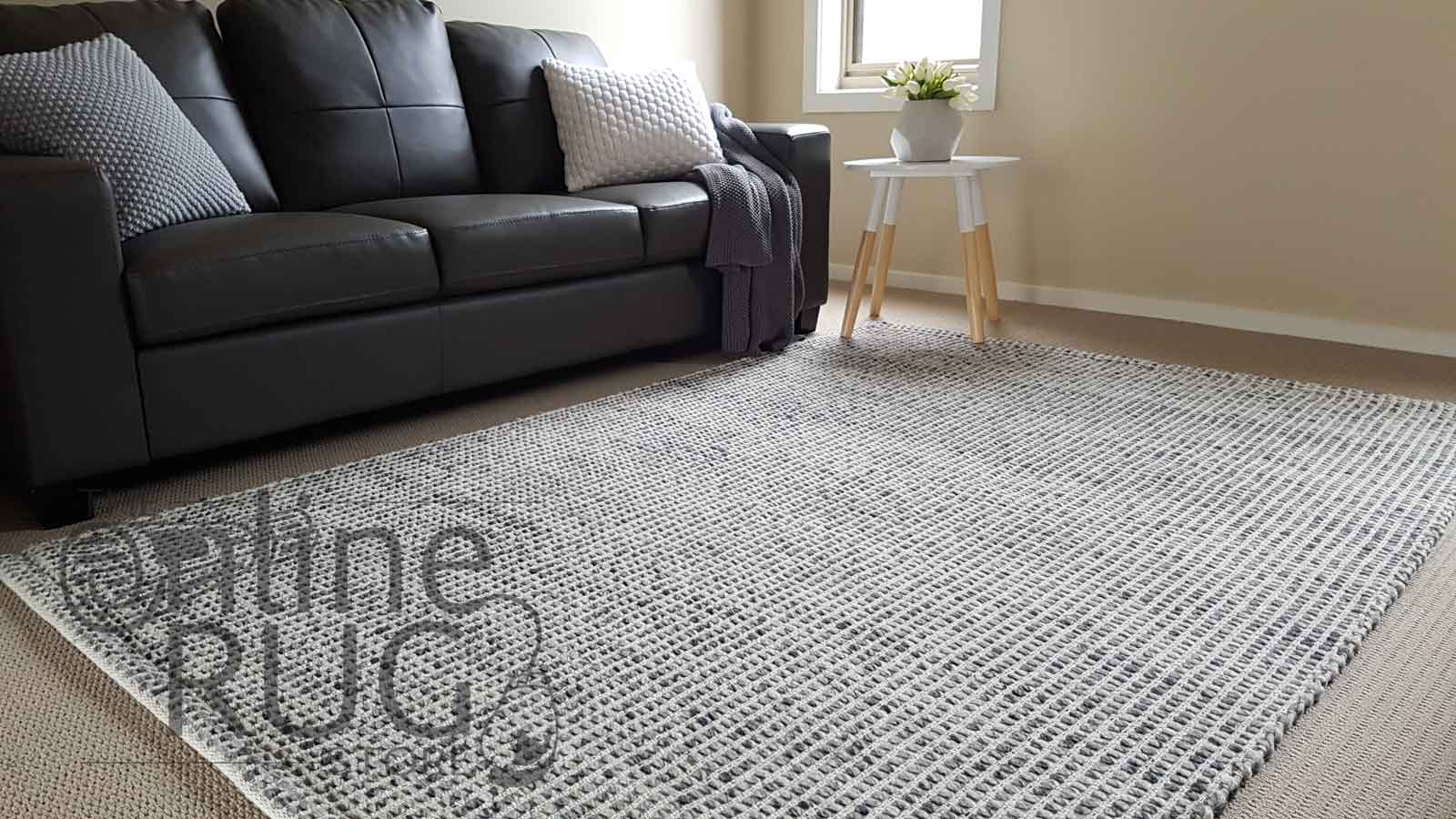Grey Scandinavian Felted Wool Rug The Online Rug Store