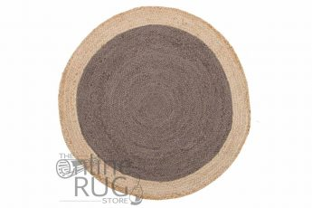 Polo Charcoal Jute Round