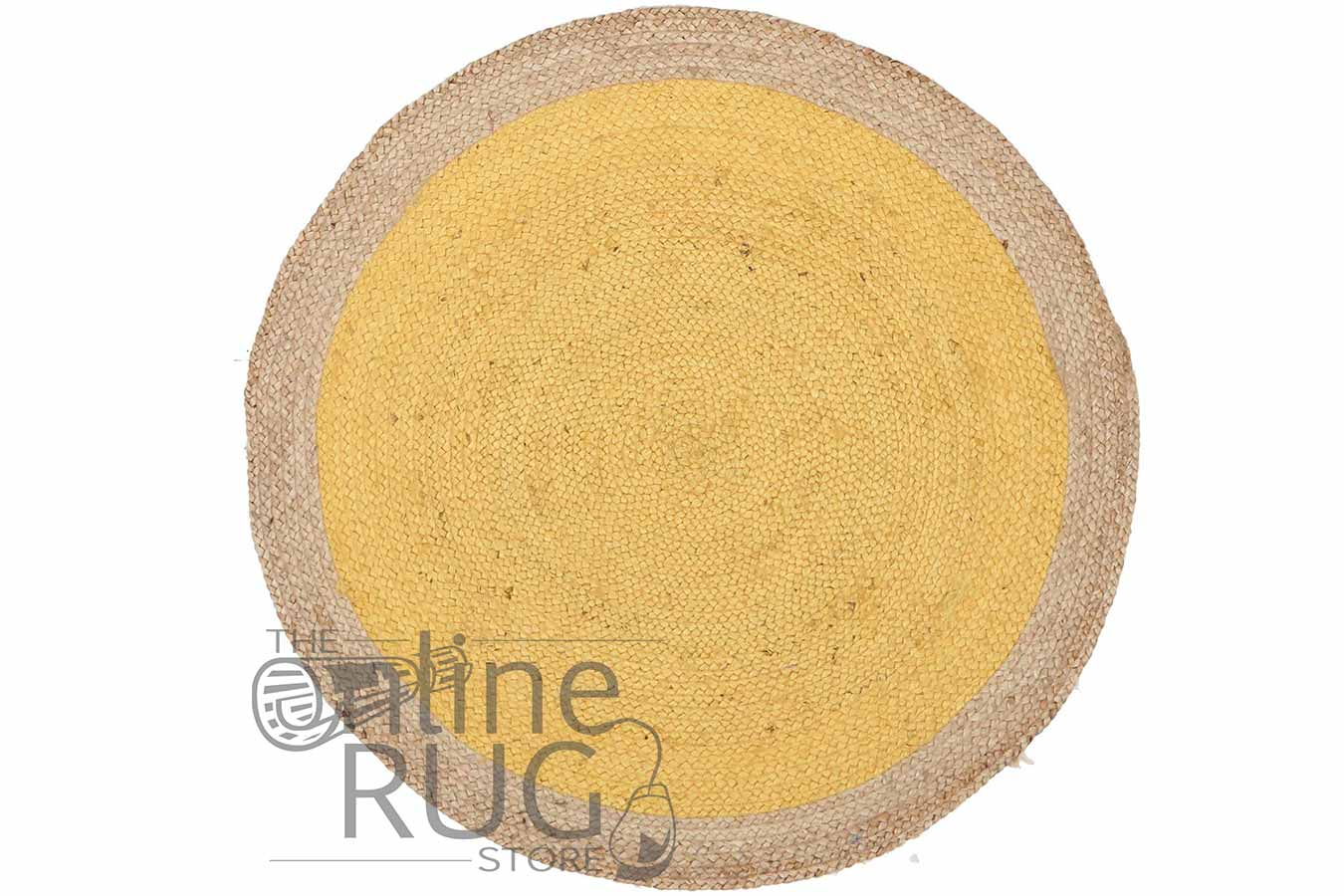 Polo Yellow Jute Round The Online Rug Store