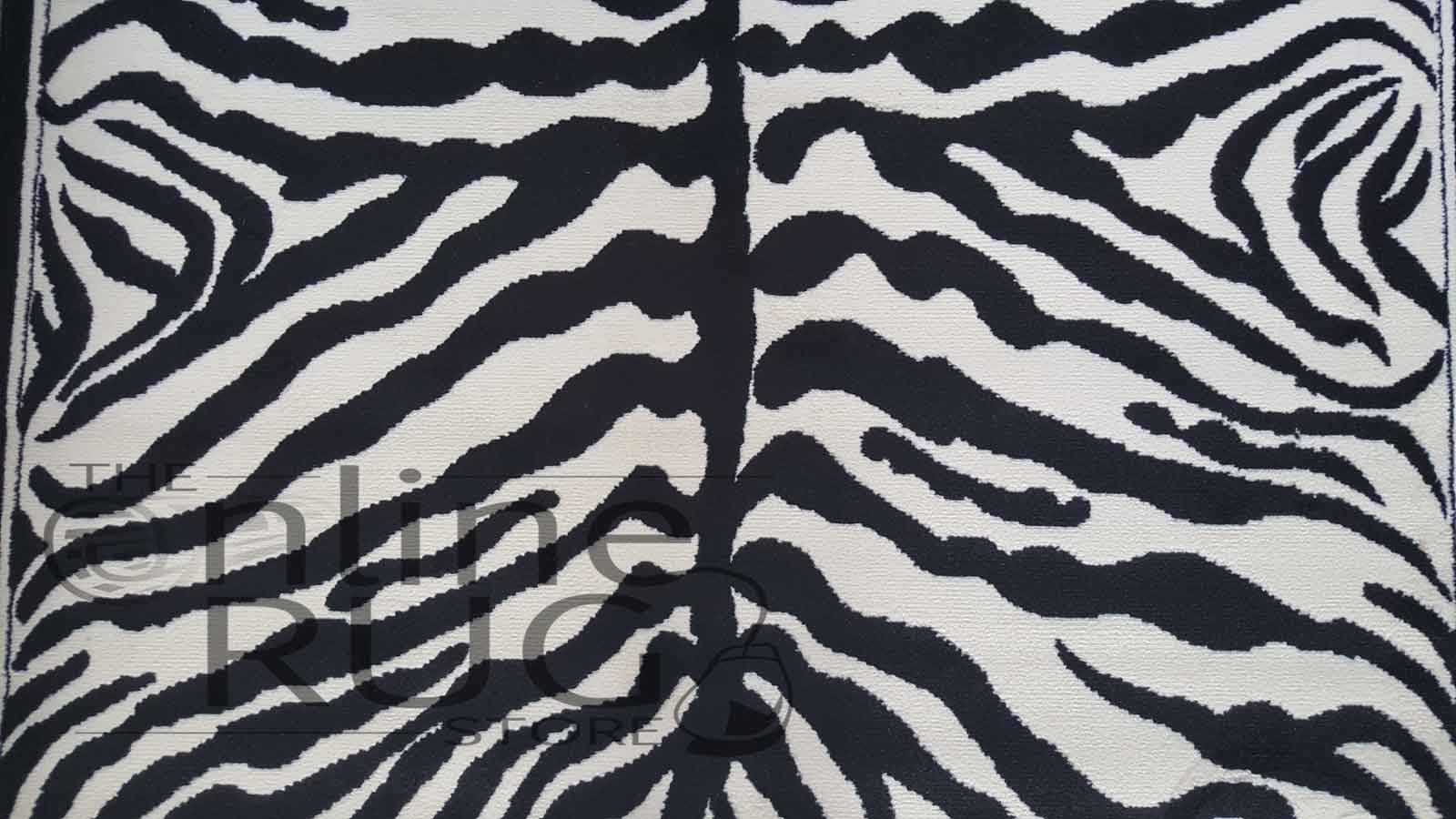 Animal Black Cream Zebra Print