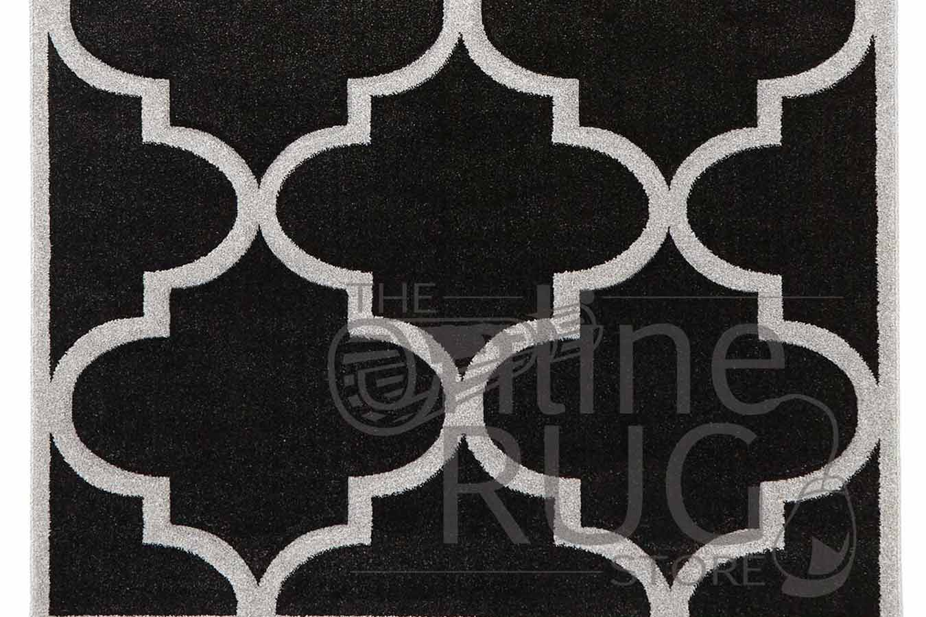 Charcoal Moroccan Quatrefoil Lattice The Online Rug Store