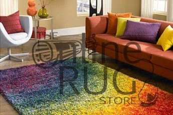 Flash Rainbow Shaggy Rug