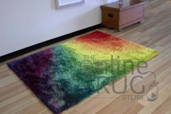Flash Swirl Shaggy Rug