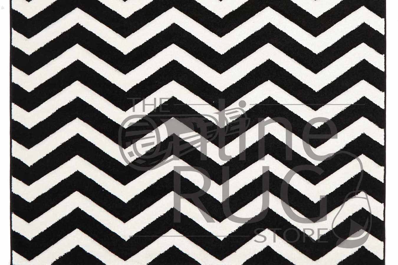 Icon Black White Chevron Zig Zag The Online Rug Store