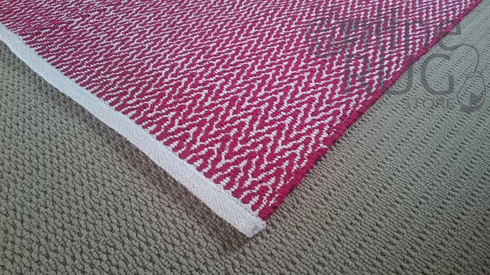 Red Dhurrie Flat Weave