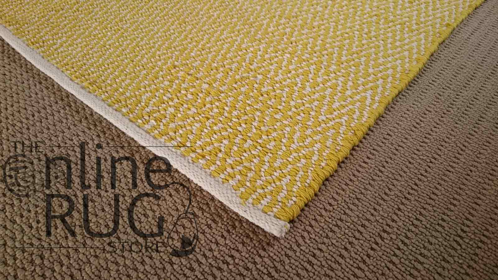 Yellow Dhurrie Flat Weave The Online Rug Store
