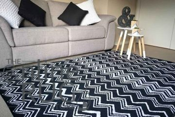 Black and White Zig Zag Chevron Rug
