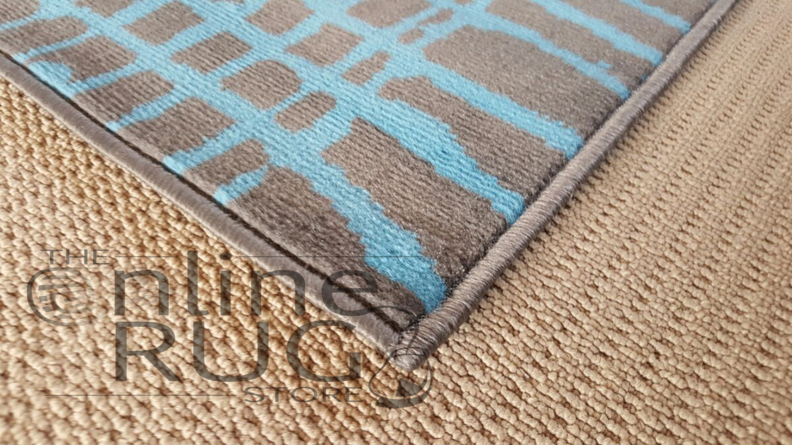 Studious Blue Grey Stripe Abstract