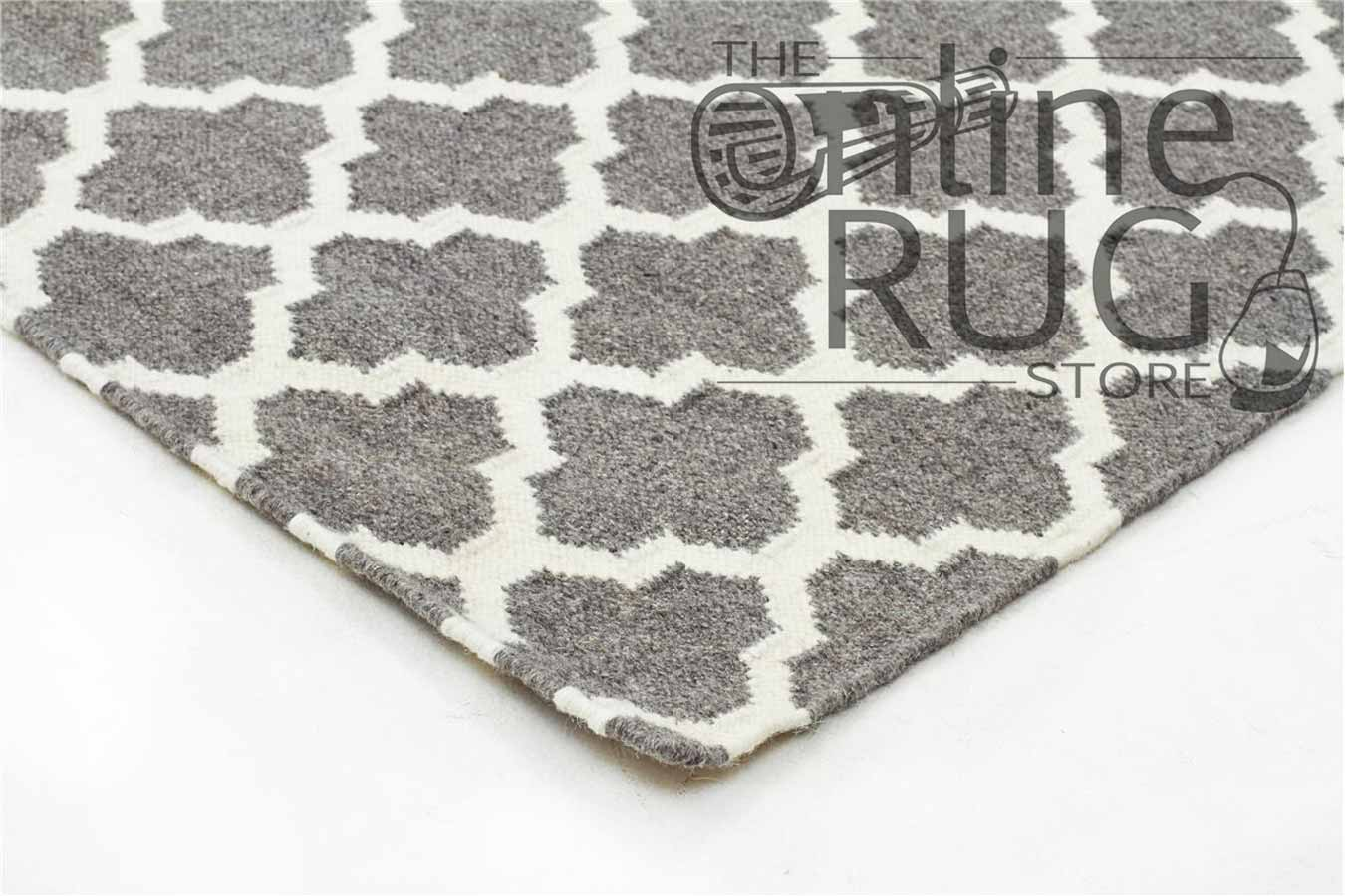 Grey Moroccan Wool Rug