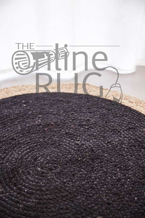 Polo Black Jute Round The Online Rug Store