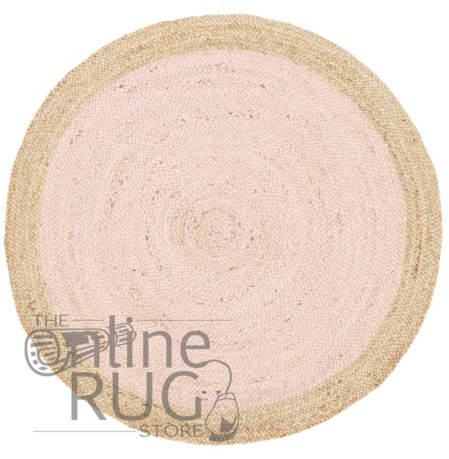 Polo Pink Jute Round
