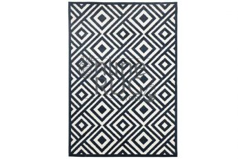 Navy Blue Diamond Indoor Rug
