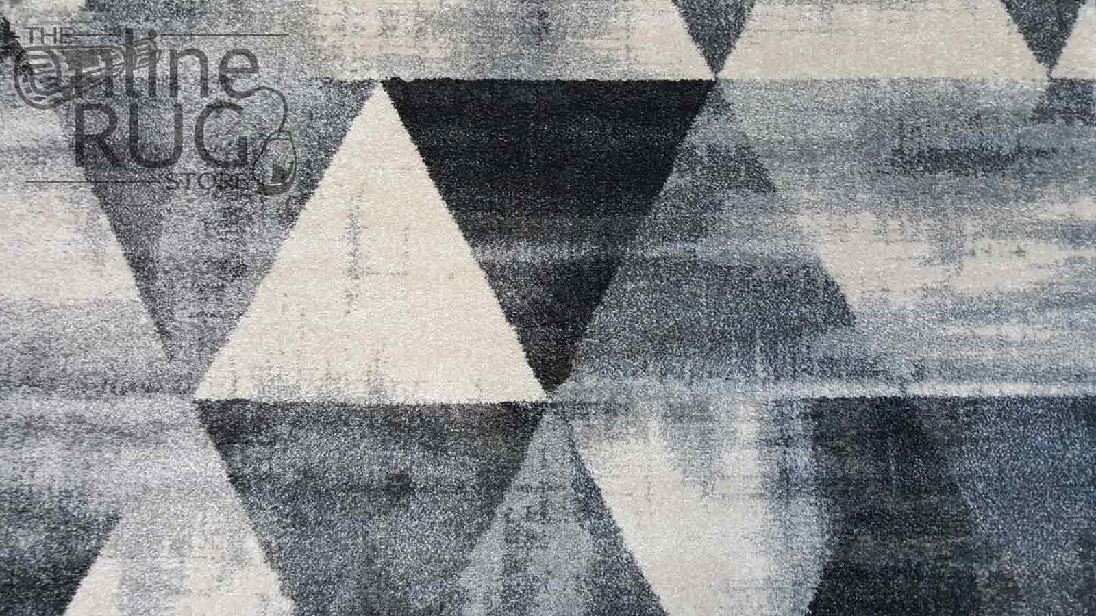 Space Monochrome Grey Triangles The Online Rug Store