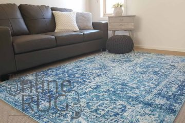 Awaken Blue Power Loomed Rug