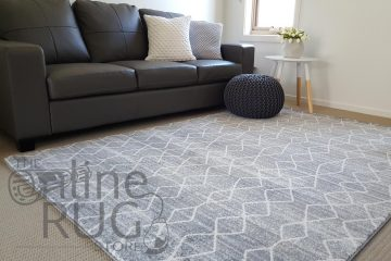 Silver Diamond Power Loomed Rug