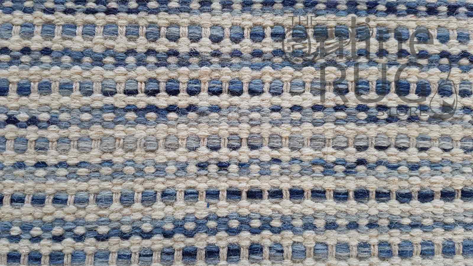 Blue Scandinavian Felted Wool Rug
