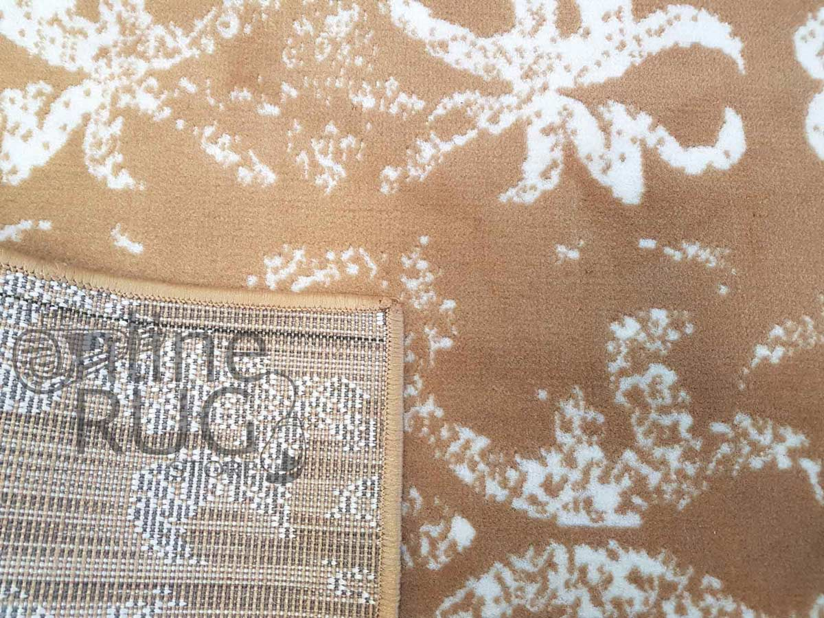 Studious Caramel Brown Classic French Damask