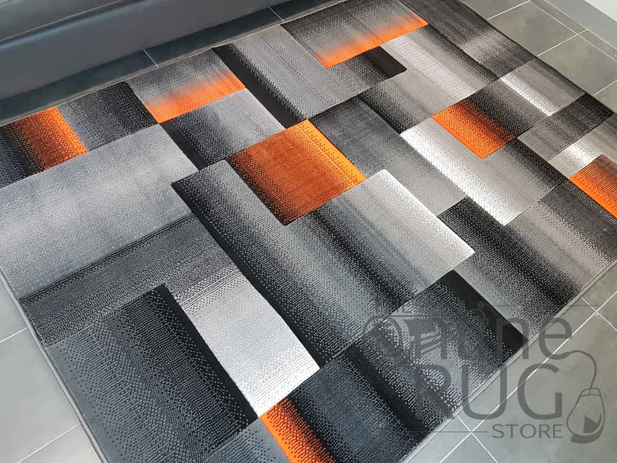 Orange Gray Rug Best Rug 2018