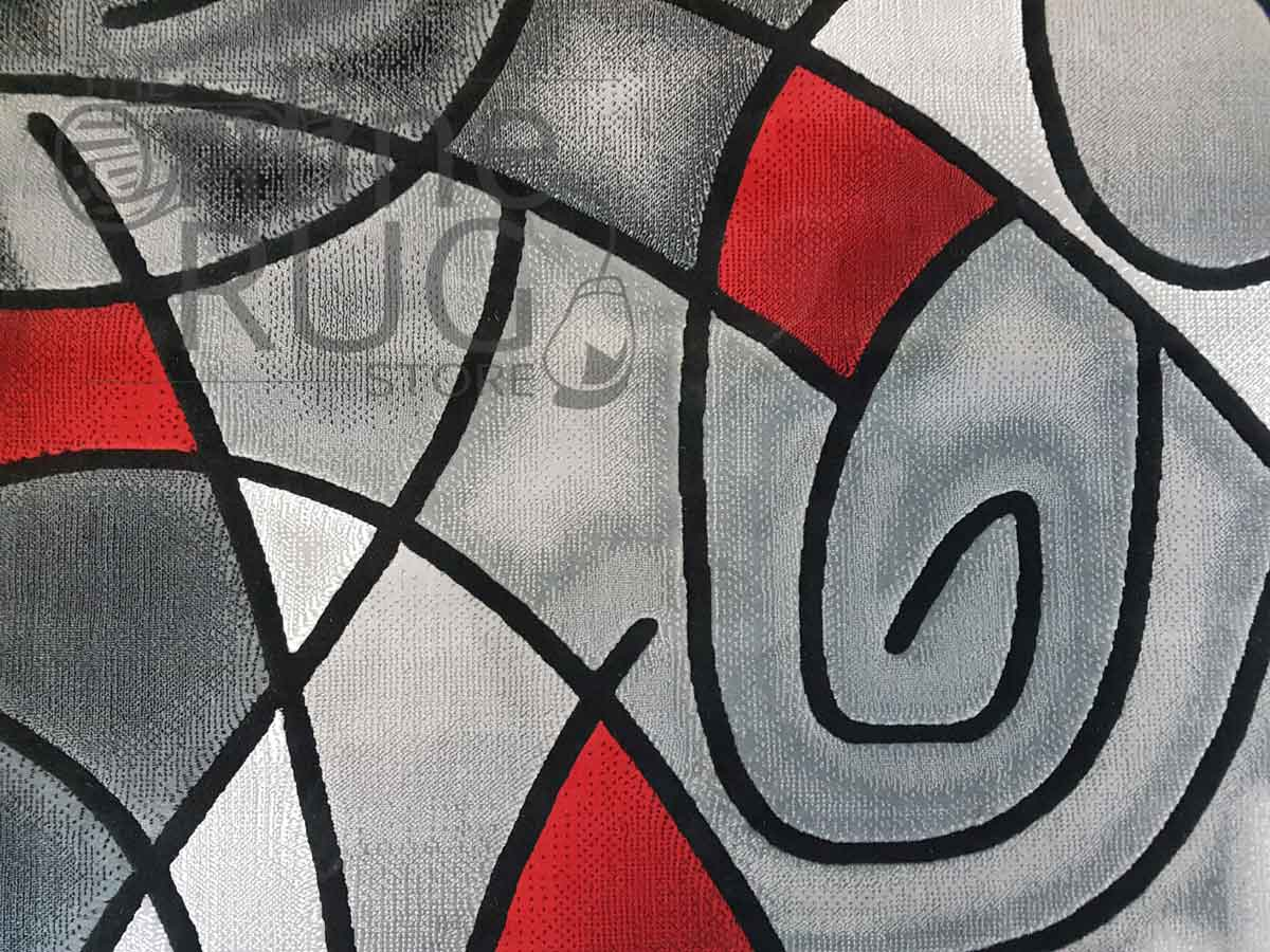 Style Red Grey Abstract