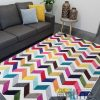 Candy Crush Rainbow White Herringbone