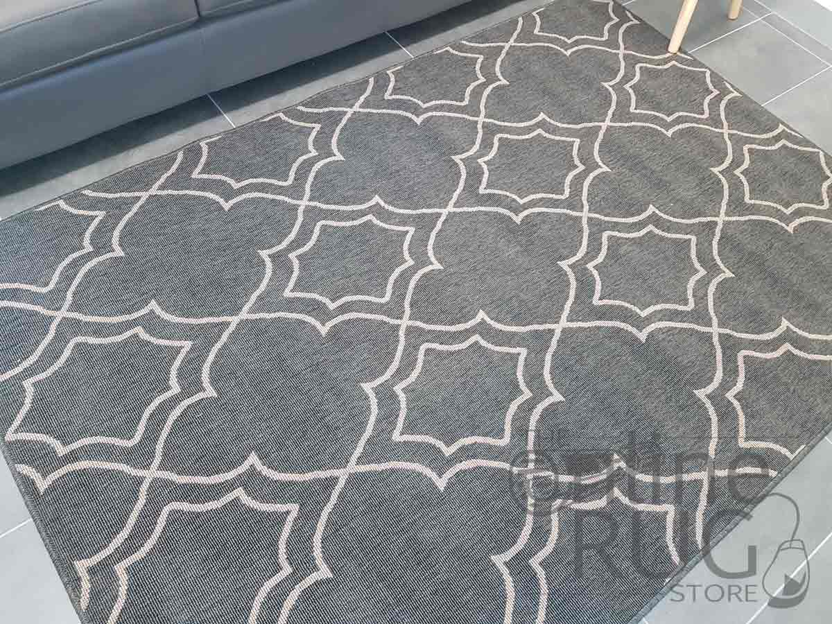 Alfresco Charcoal Moroccan Outdoor Rug