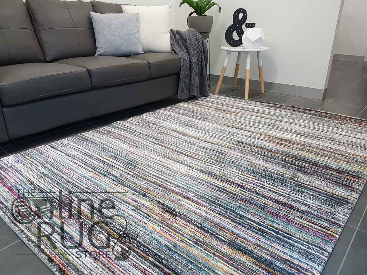 Space Grey Rainbow Stripe Lines