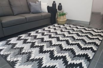 Grey Black Ombre Chevron
