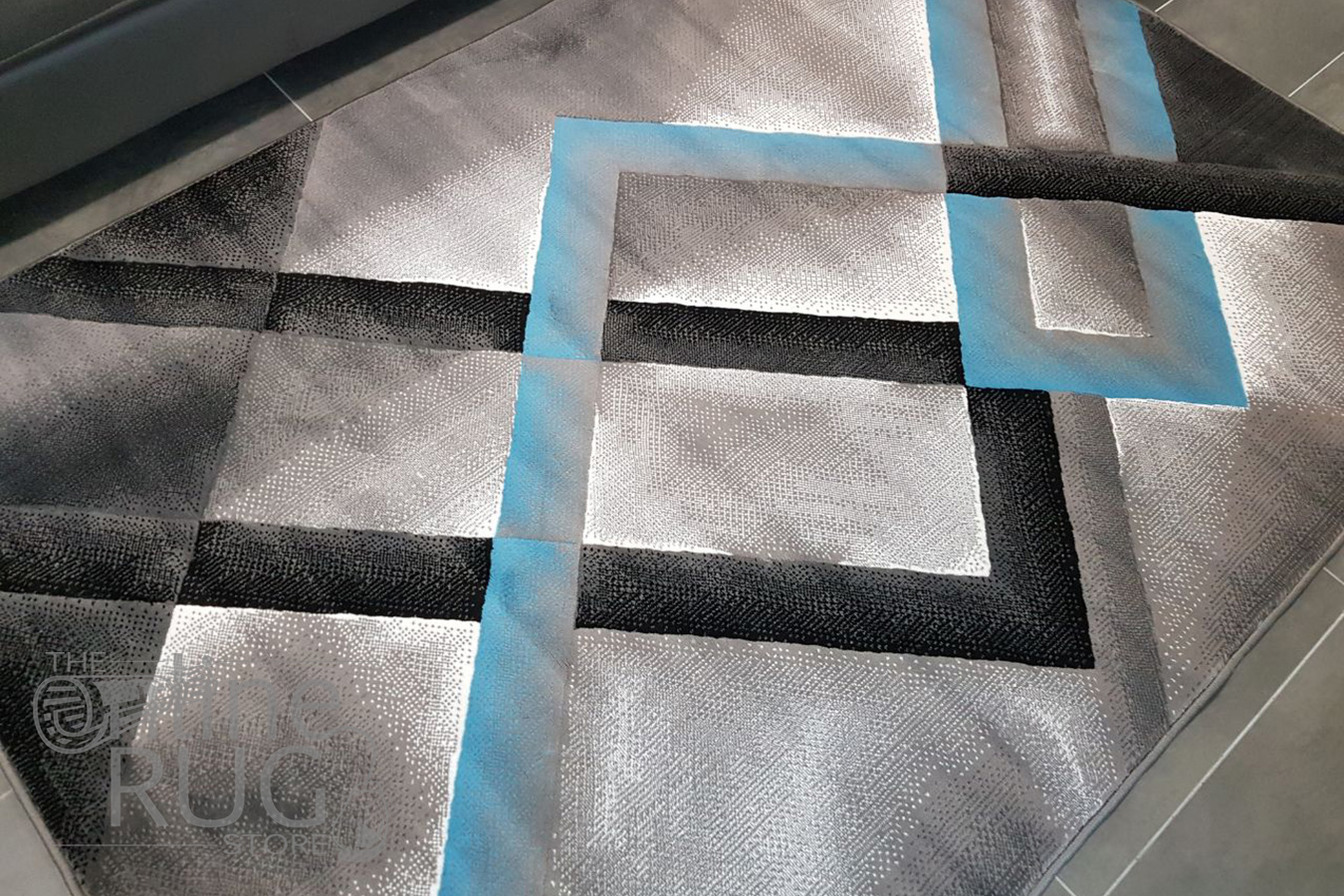 Style Blue Grey Abstract Diamond The Online Rug Store
