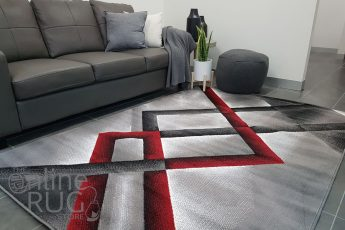 Style Red Grey Abstract Diamond (1)