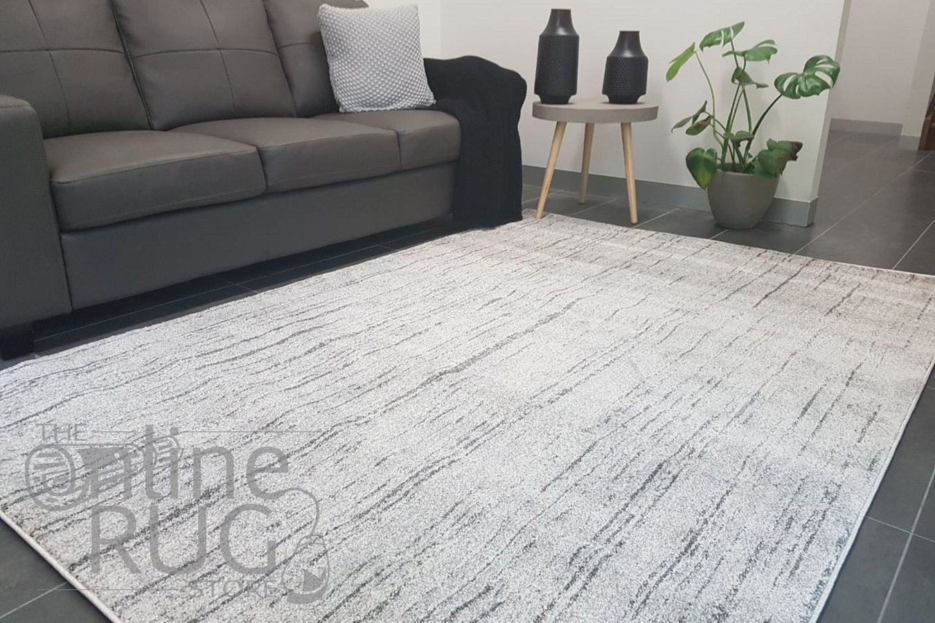 Aspire Grey Abstract Lines Rug The Online Rug Store