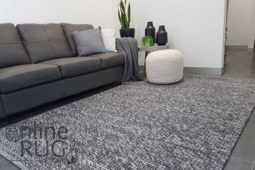 Darcy Dark Grey Felted Wool Rug