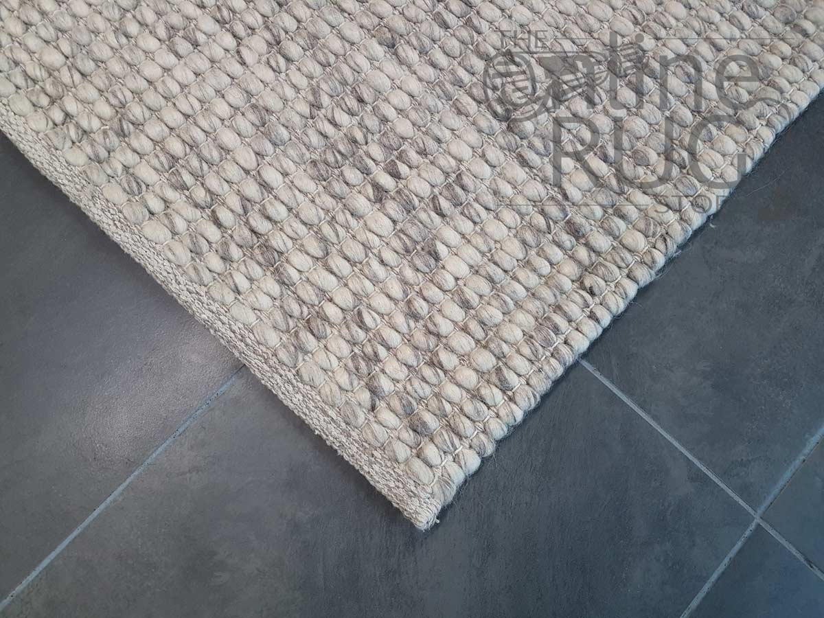 Darcy Light Grey Felted Wool Rug The Online Rug Store