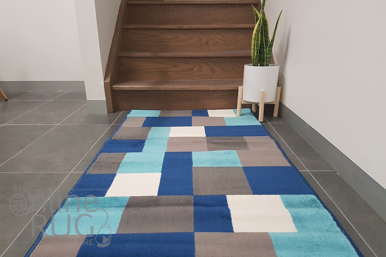 Industry Multicolour Tiles Hallway Runner