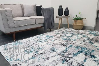 Freedom Grey Blue Abstract Pattern Rug (1)