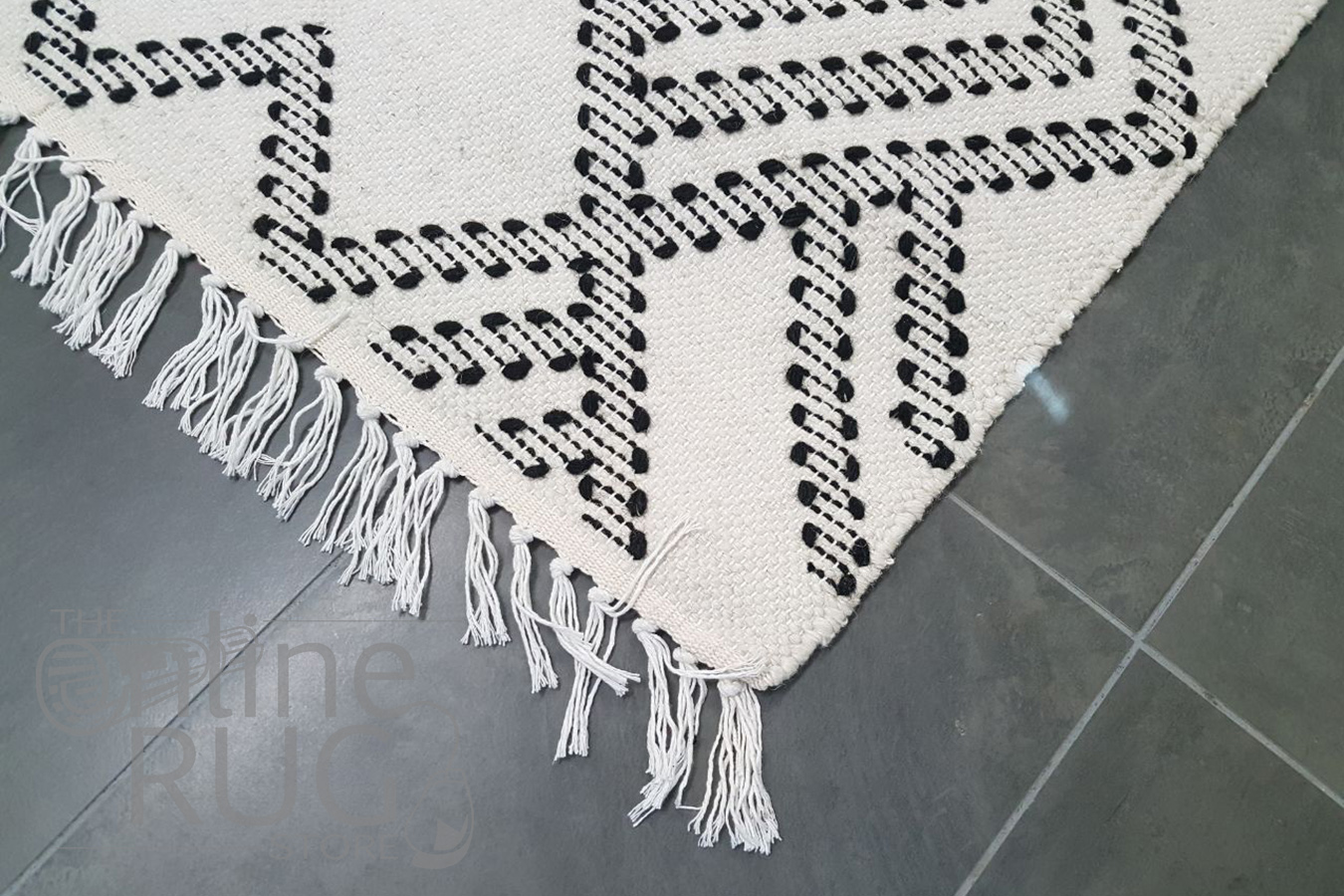 Bohemian White Hand Loomed Textured Rug The Online Rug Store