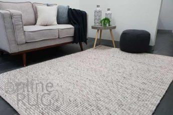 Essence Scandinavian Light Grey Felted Wool Rug (9)