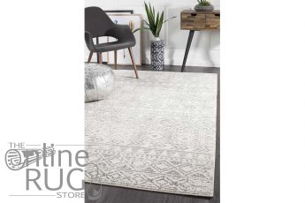 Heaven Grey Tribal Geometric Diamond Rug (1)