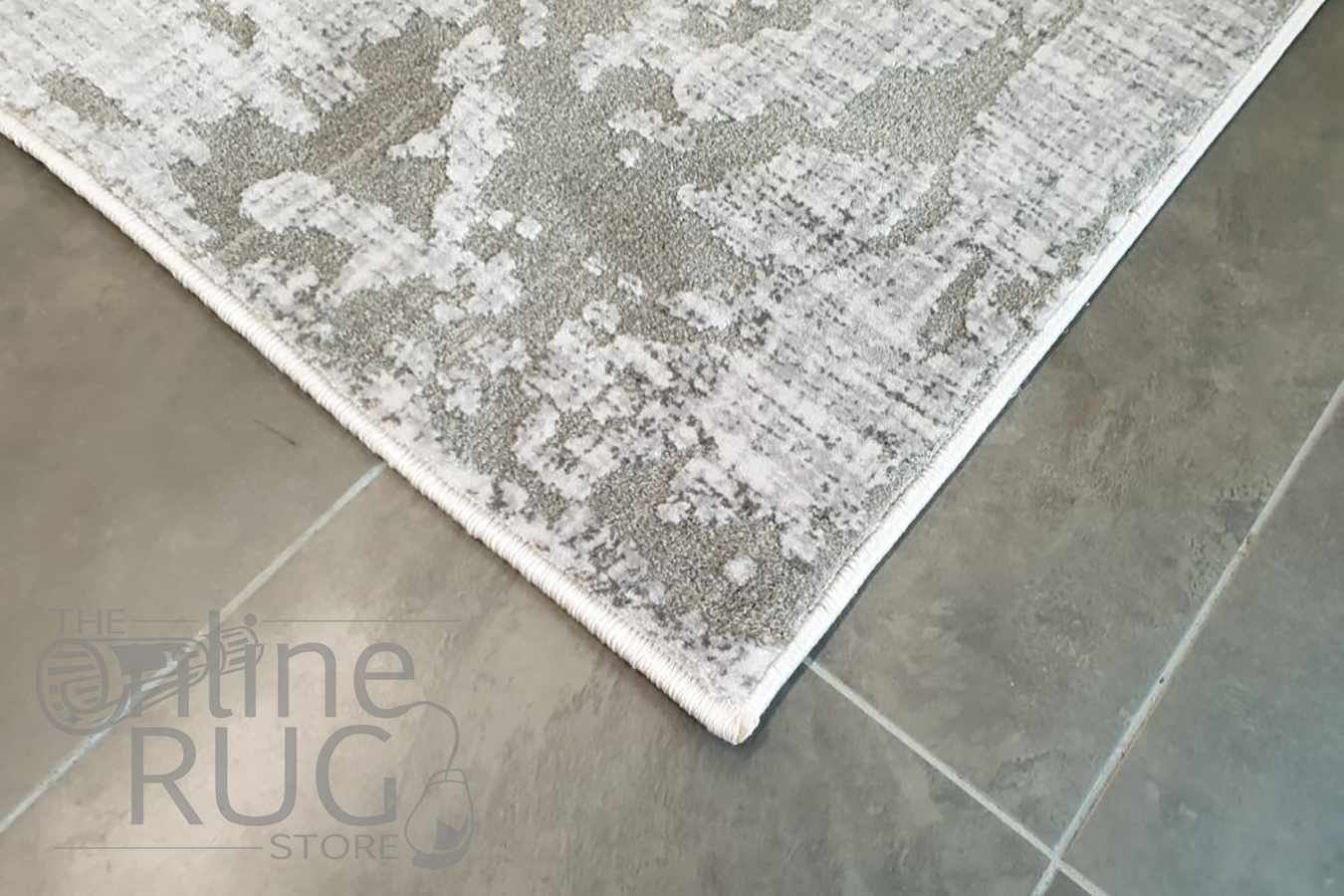 Cali Grey Abstract Over Dyed Transitional Rug