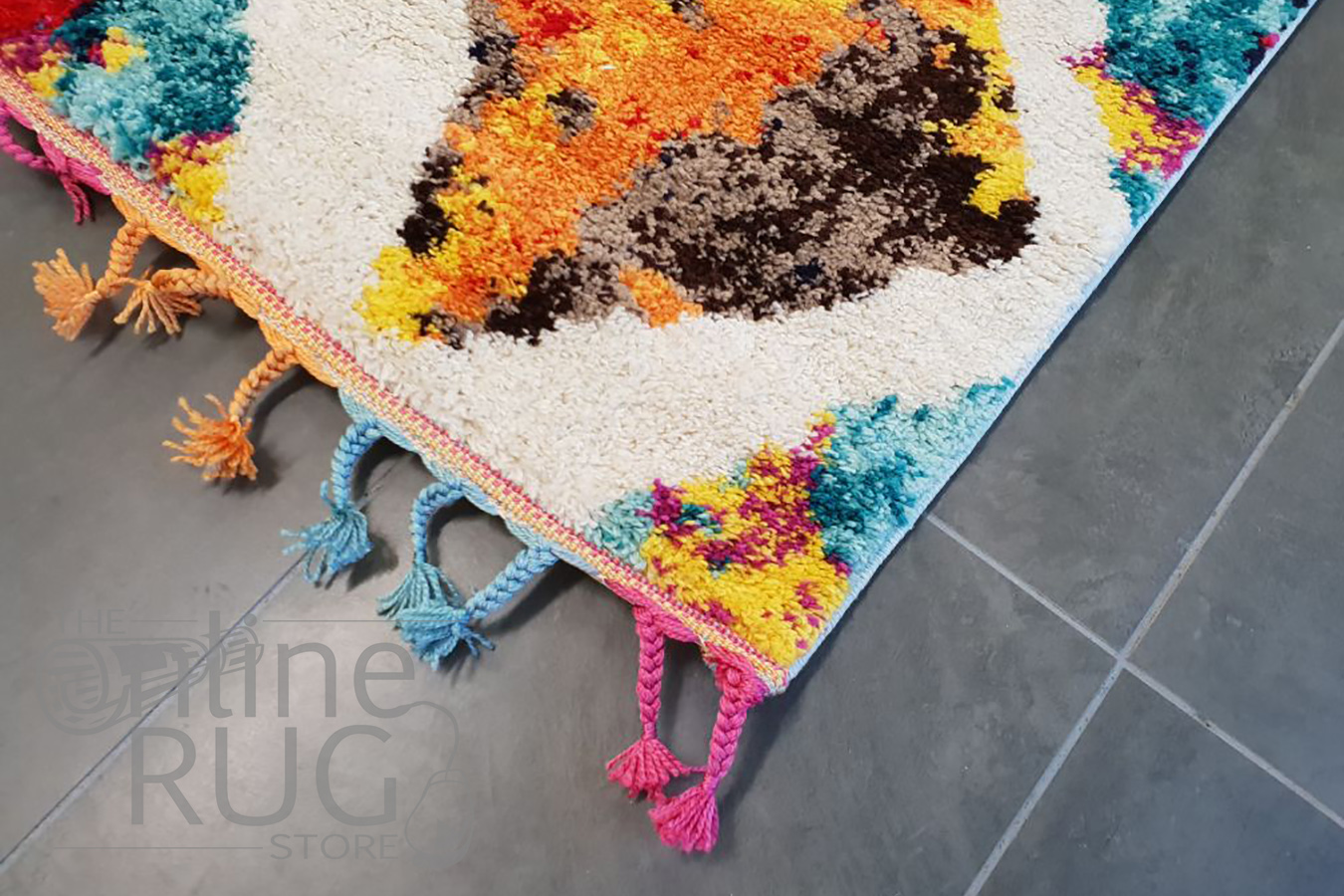 Karsha Multi Colour Tribal Diamond Lattice Rug