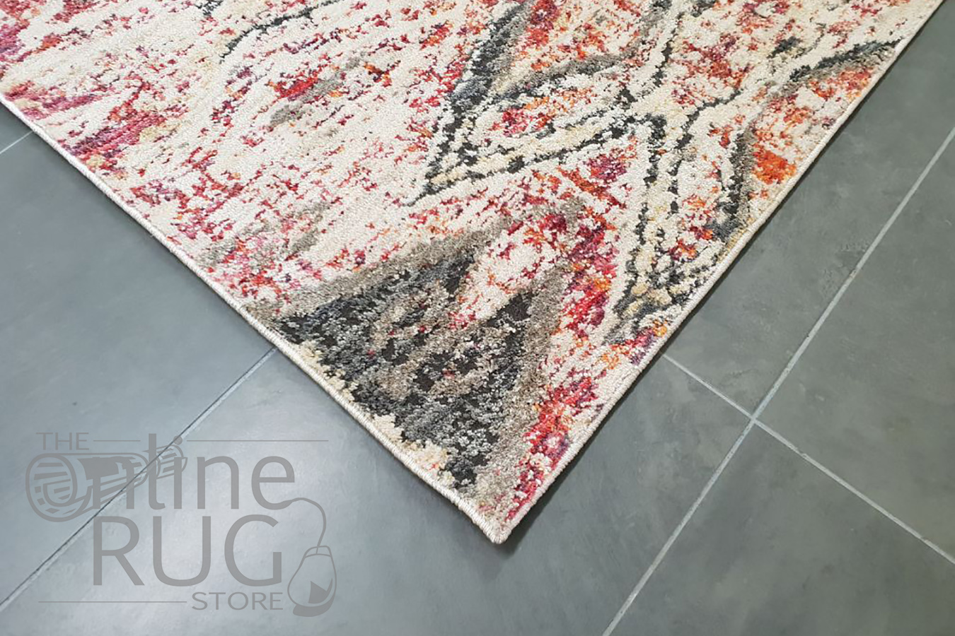 Bella Rust and Prints Distressed Vintage Rug