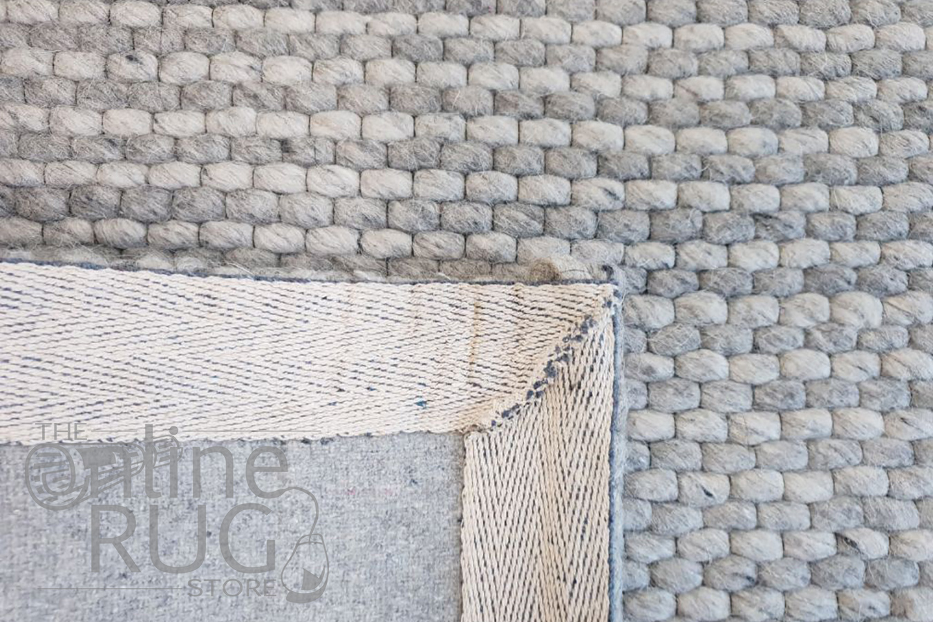 Artiste Grey Wool and Viscose Hand Woven Rug