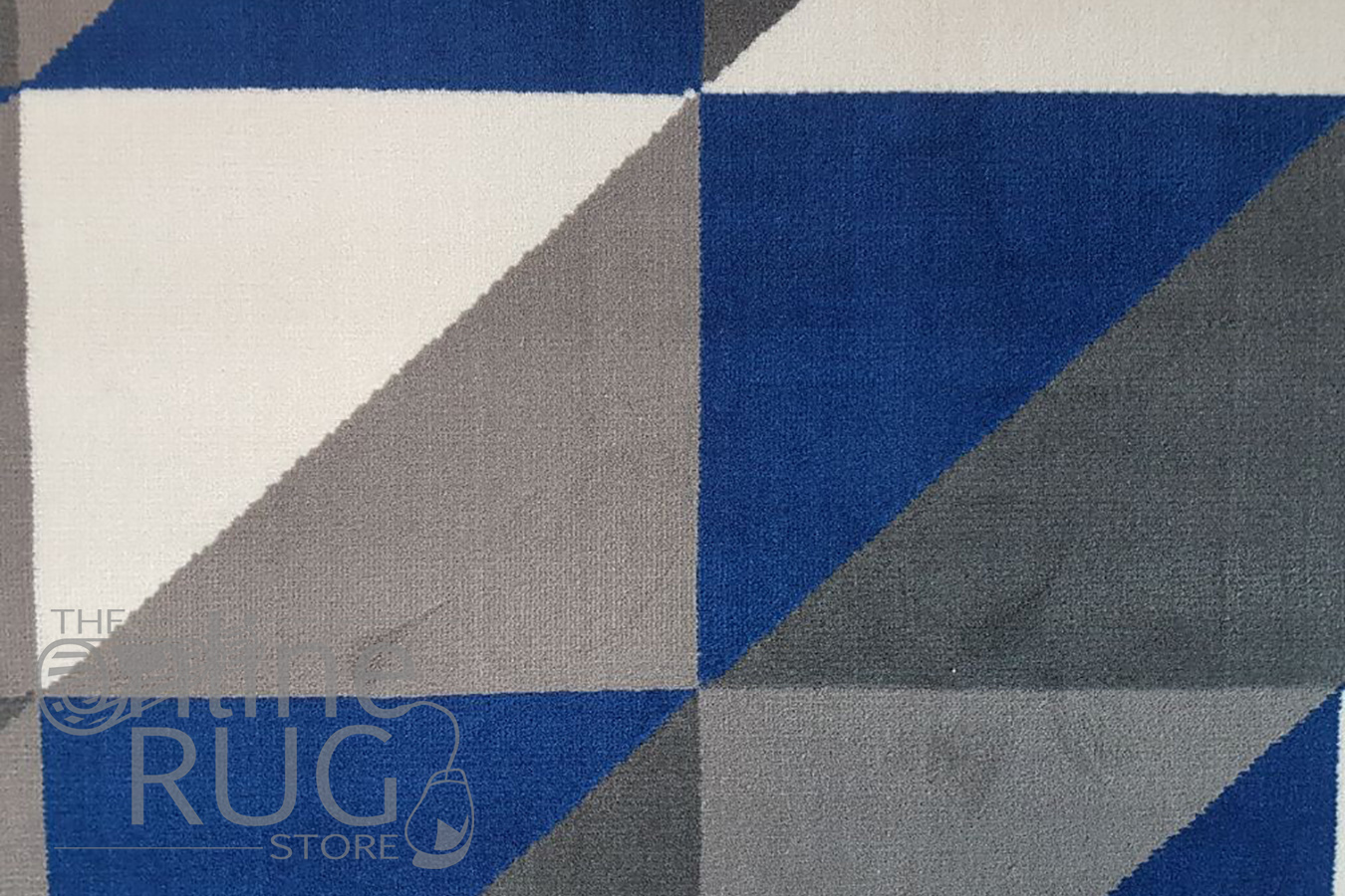 Industry Royal Blue White Geometric Triangle