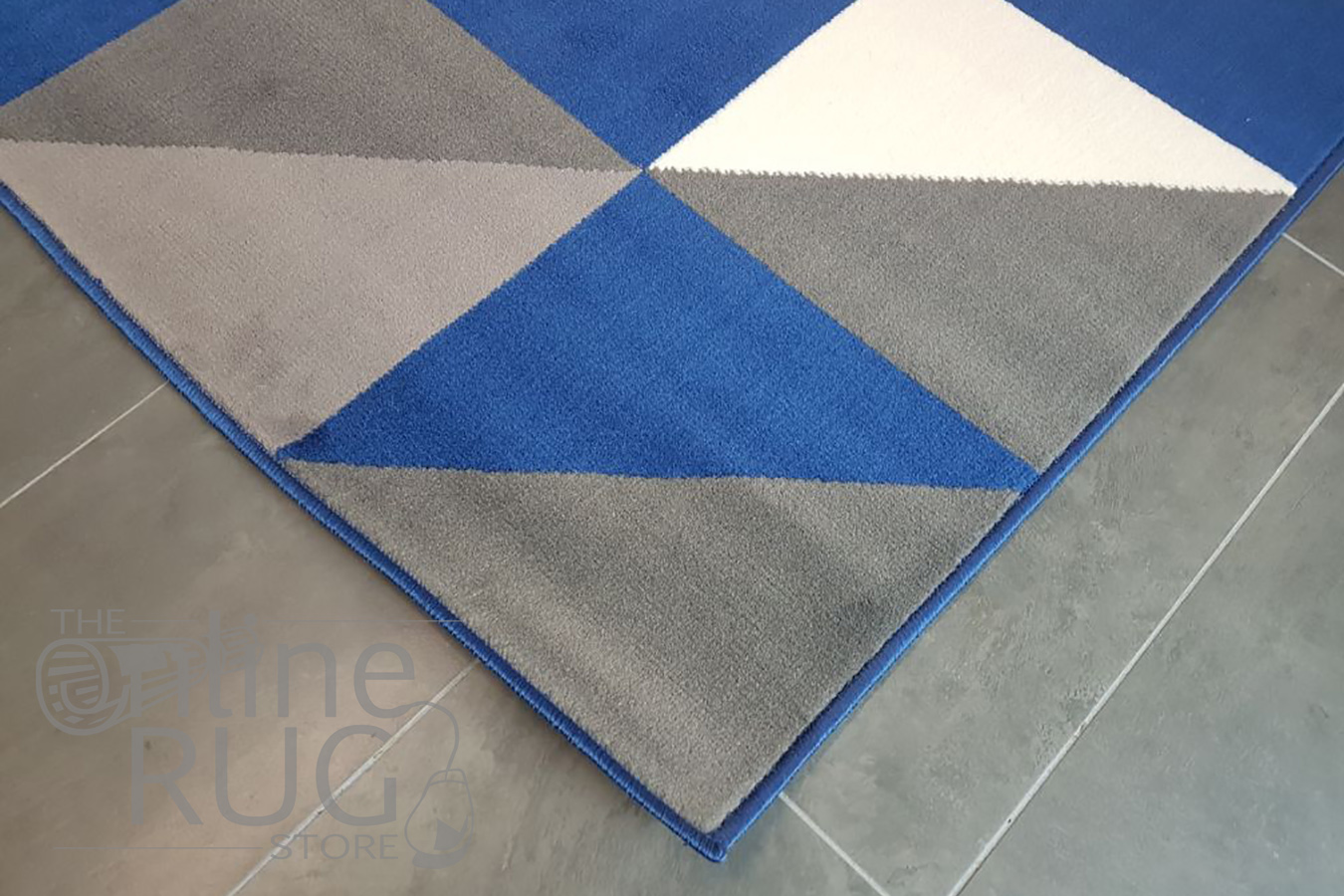 Industry Royal Blue White Geometric Triangle The Online
