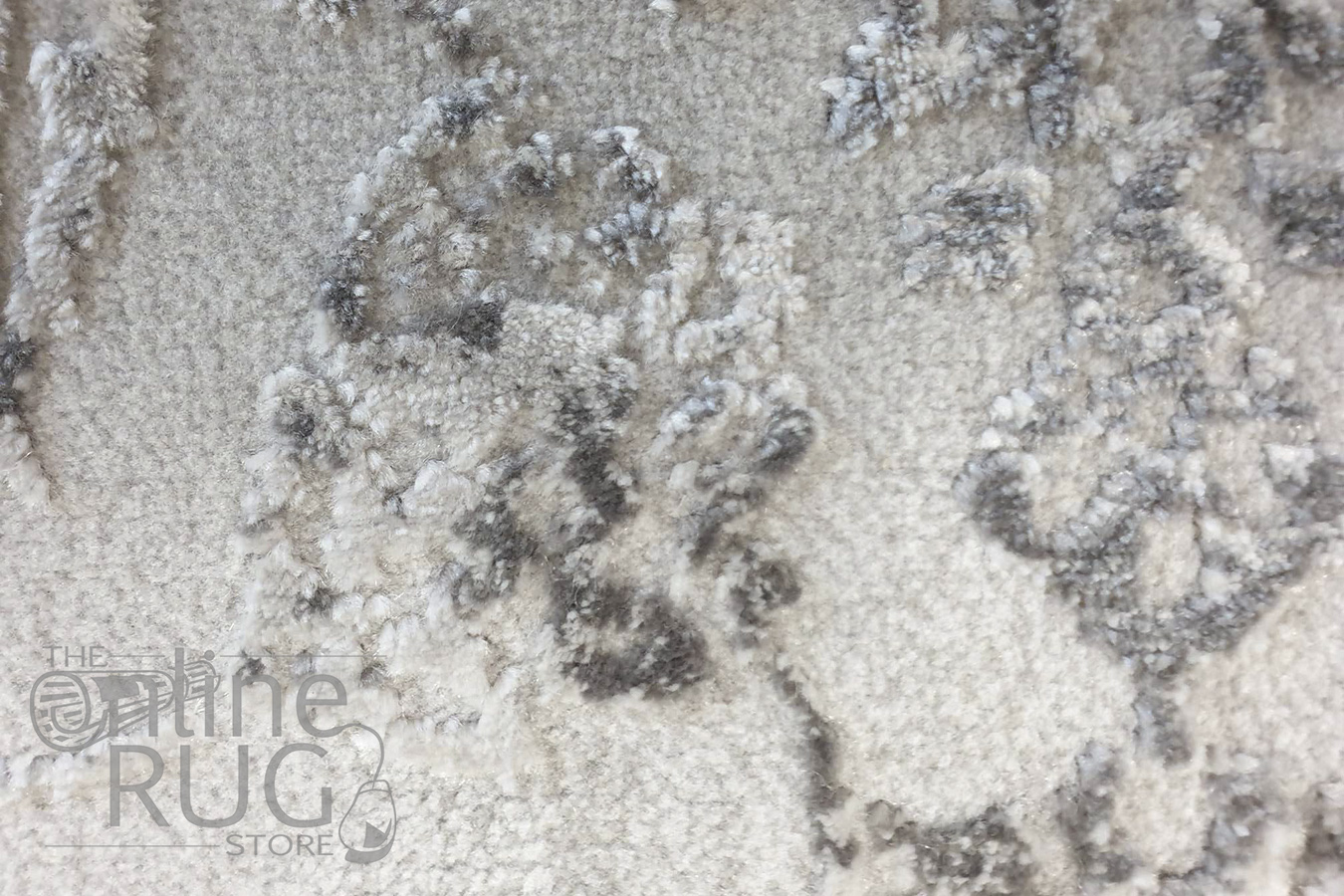 Opal Silver Ornate Power Loomed Rug
