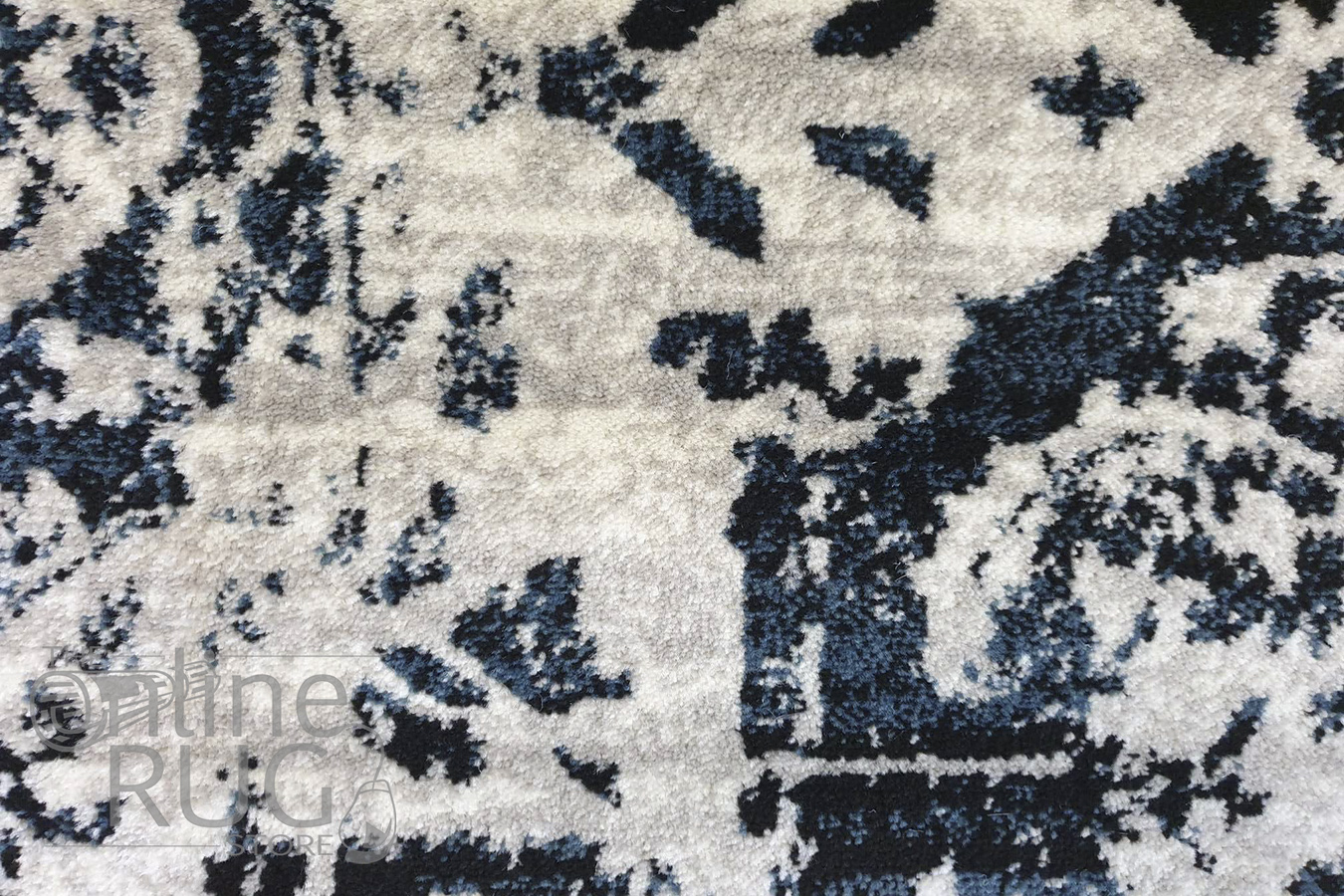 Raffy Charcoal Medallion Transitional Rug