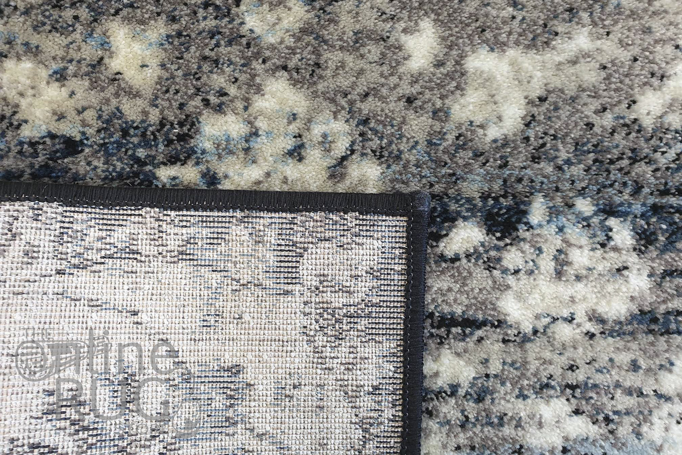 Raffy Blue Black Transitional Rug