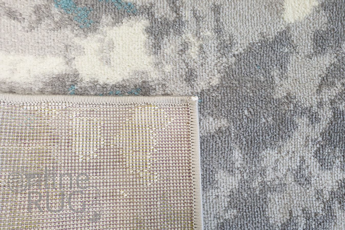 Freedom Blue Grey Abstract Pattern Rug
